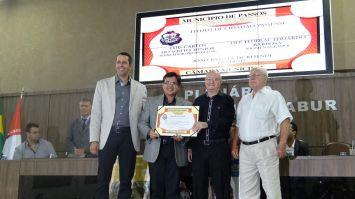 Deputado Eduardo Barbosa recebe título de Cidadão Passense